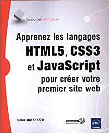couverture du livre Apprenez les langages HTML5, CSS3 et JavaScript