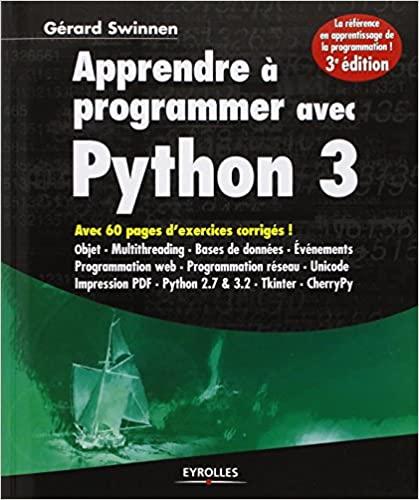 couverture du livre Apprendre à programmer avec Python 3