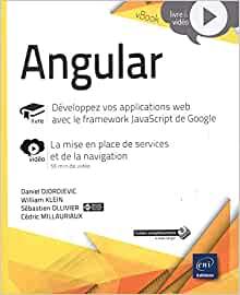 couverture du livre Angular - Développez vos applications web avec le framework JavaScript de Google