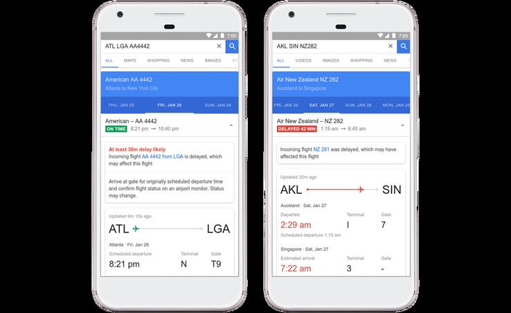 Connaître le retard des vols avant les compagnies — Google Flights
