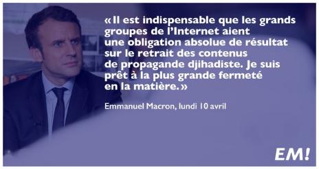 Presidentielle En France Emmanuel Macron S Attaque Au Chiffrement Et A La Propagande En Ligne Dans