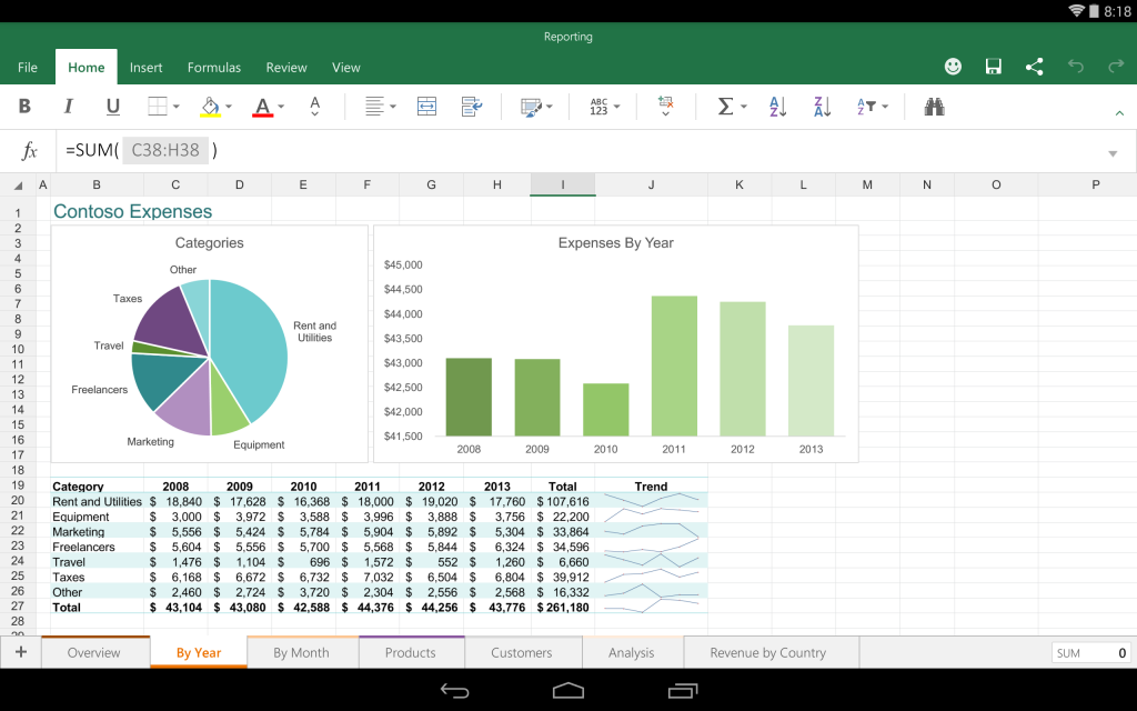 La preview d 39 office pour tablette android accessible tous - Open office android tablette ...